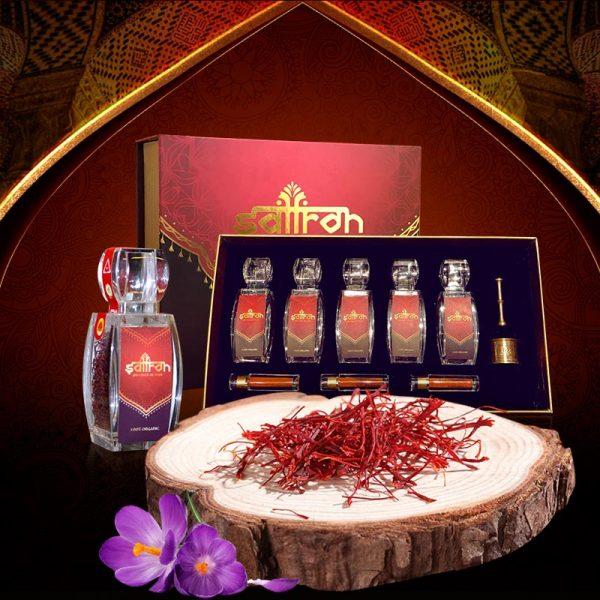 ộ sản phẩm Nhụy hoa nghệ tây saffron SALAM trà hoa cúc hộp 25g NT004