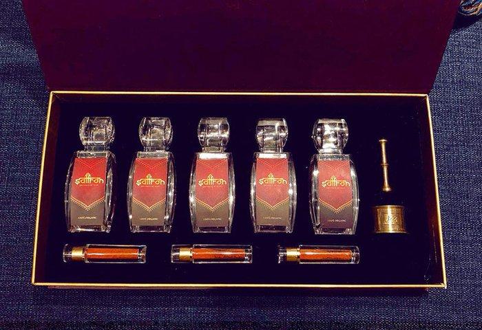 Bộ sản phẩm Nhụy hoa nghệ tây saffron SALAM trà hoa cúc hộp 25g NT004 1