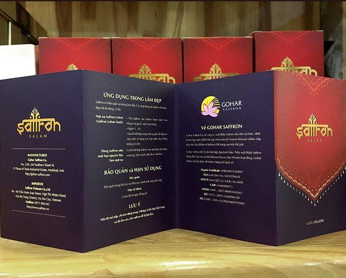 Bộ sản phẩm Nhụy hoa nghệ tây saffron SALAM trà hoa cúc hộp 25g NT004 9