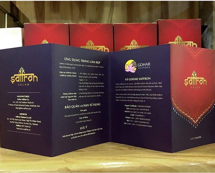Nhụy hoa nghệ tây IRAN cao cấp Saffron SALAM hộp 1g NT007 8