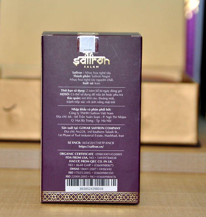 Nhụy hoa nghệ tây IRAN cao cấp Saffron SALAM hộp 2g NT008 3