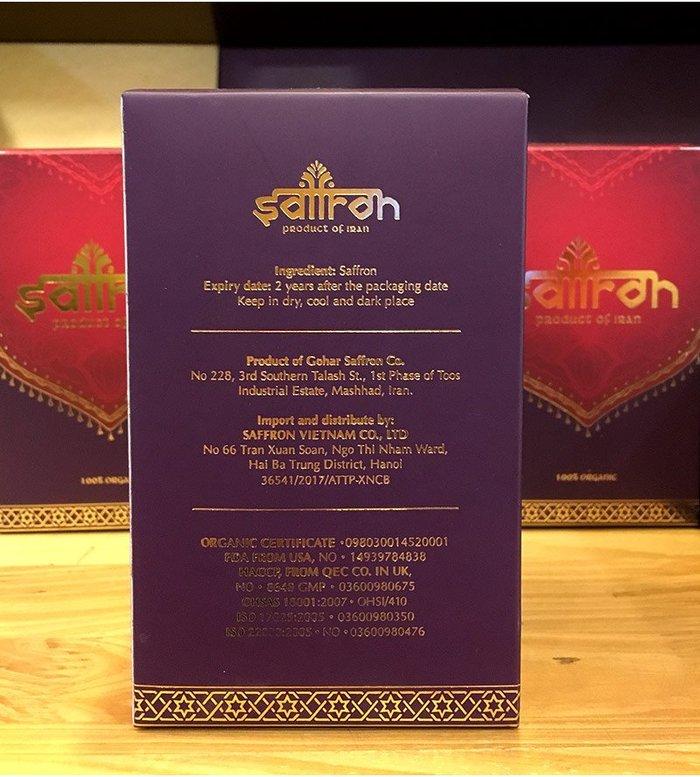 Nhụy hoa Nghệ Tây IRAN cao cấp Saffron SALAM hộp 3g NT001 4