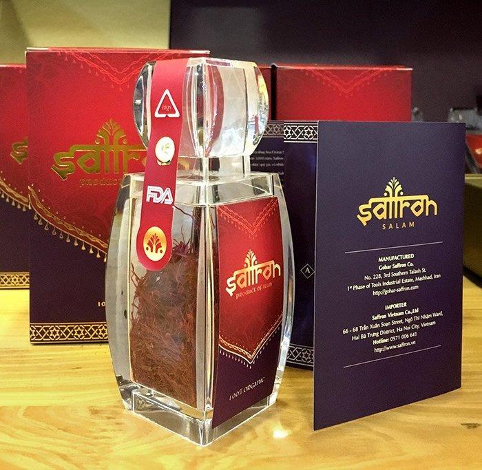 Nhụy hoa Nghệ Tây IRAN cao cấp Saffron SALAM hộp 3g NT001 5