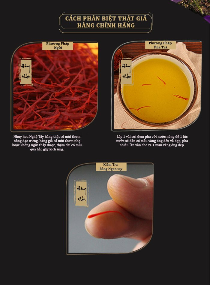 phân biệt nhụy hoa nghệ tây thật giả