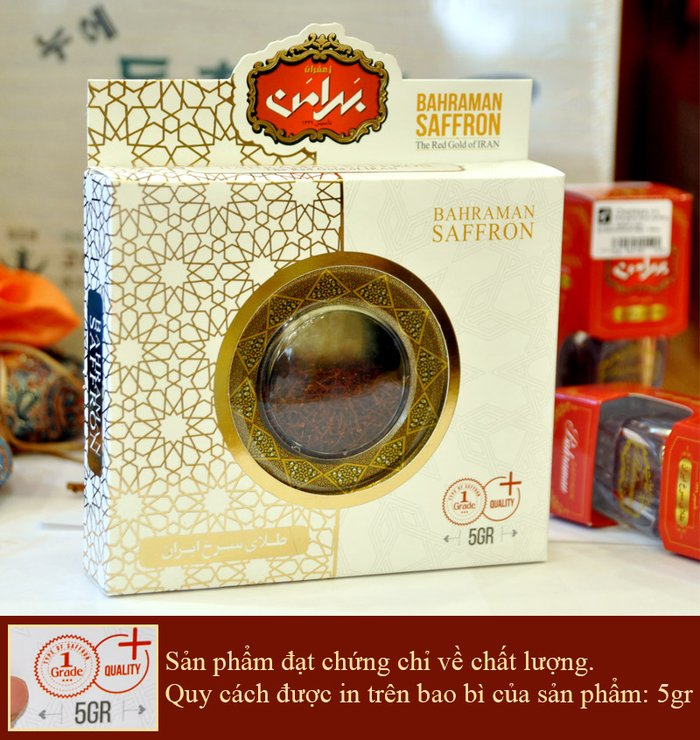Saffron Iran BAHRAMAN Hộp 5 gram NT014 1