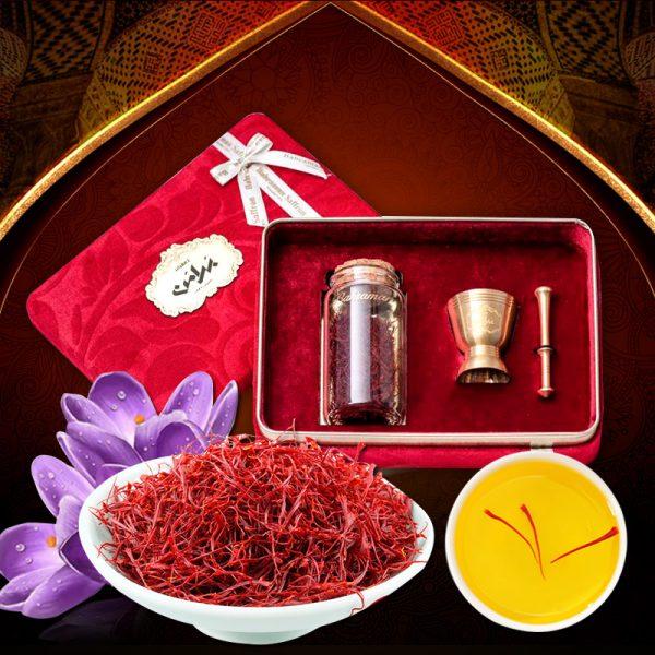 Saffron Iran BAHRAMAN Set quà 6 gram NT015